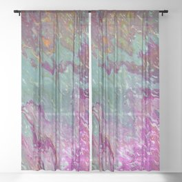 Pouring Pink Sheer Curtain