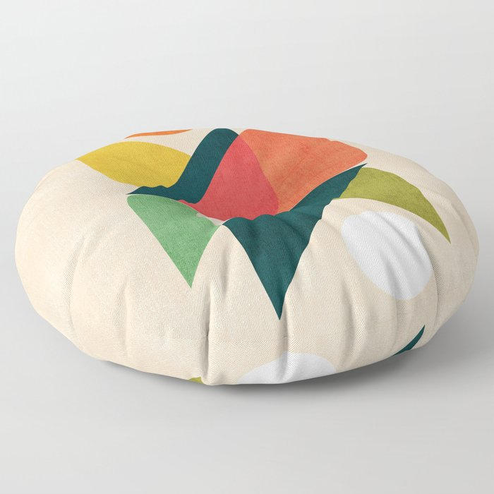 Reflection (of time and space) Floor Pillow