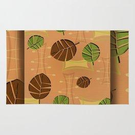 Tiki Bar Wallpaper Pattern Rug
