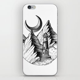A lighthouse in a stupid place iPhone Skin