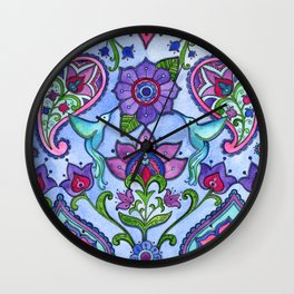 Hummingbird Paisley Wall Clock