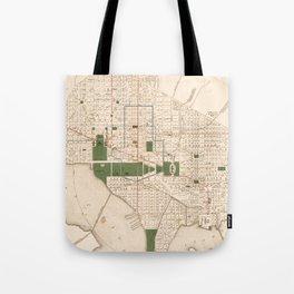 Vintage Map of Washington DC (1876) Tote Bag