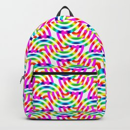 Rainbow Op-Art Pattern Backpack