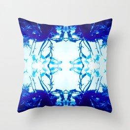 Glass Fish Shibori Throw Pillow