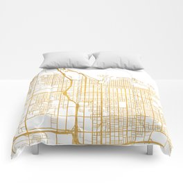 SALT LAKE CITY UTAH CITY STREET MAP ART Comforters