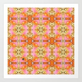 Pink & Orange Poppy 4B Art Print