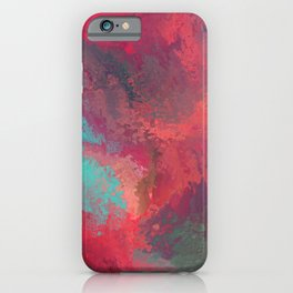 Passionate Firestorm Abstract Painting iPhone Case