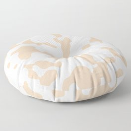 Large Spots - White and Pastel Brown Floor Pillow