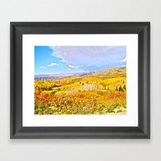 Walk Along Buff Pass Framed Art Print