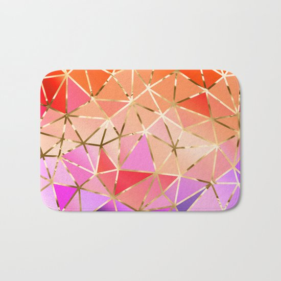Rainbow Geometric pattern #4 Bath Mat