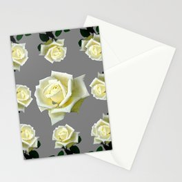 WHITE ROSES GARDEN DESIGN Stationery Cards