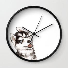 Baby Husky Wall Clock