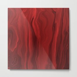 Marblesque Red 1 - Abstract Art Marble Series by Jennifer Berdy Metal Print