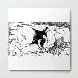 asc 426 - La moitié interdite (The princess with beautiful curls) Metal Print