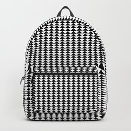 Black Painted Triangles on White Backpack
