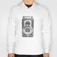 vinyl Hoodies featuring Vintage Camera by Ewan Arnolda