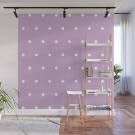 Polka Dots Lavender Lilac Purple Wall Mural