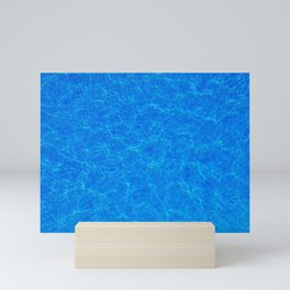 COOL BLUE WATER WITH SUNLIGHT RIPPLES Mini Art Print