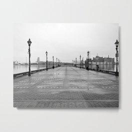 Dreary Pier Metal Print