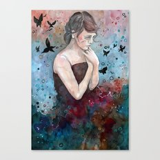 Forgotten painting, watercolor Canvas Print