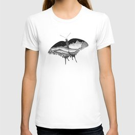 Dotwork Butterfly Landscape T-shirt