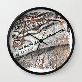 1800's Gravestone Art  Series 3 Wall Clock