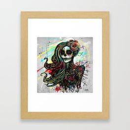 Vivid Muerte Framed Art Print