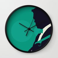 skyfall Wall Clocks featuring Minimalist Bond: Skyfall by Tyler Bramer