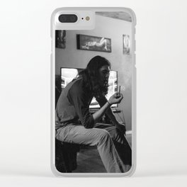 Smoking Nonchalantly Clear iPhone Case