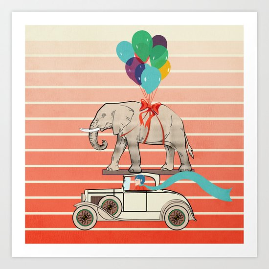 the birthday present Art Print