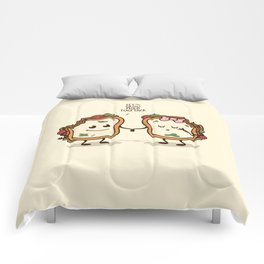 Let's Grow Mold Together Comforters