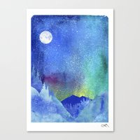 northern lights Canvas Prints featuring Northern Lights by Ricardo Moody
