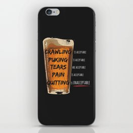 Quitting is Unacceptable iPhone Skin