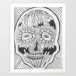 dia de los meurtos Art Print