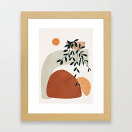 Soft Shapes I Framed Art Print