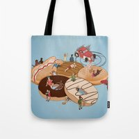doughnut Tote Bags featuring Doughnut Selection by Stephen Sharpe