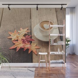 Aromatic coffee in the autumn morning Wall Mural