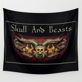 Skull And Beasts 3 Wall Tapestry
