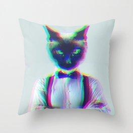 Sr Cat Throw Pillow