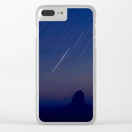 Monument Valley Star Trails Clear iPhone Case