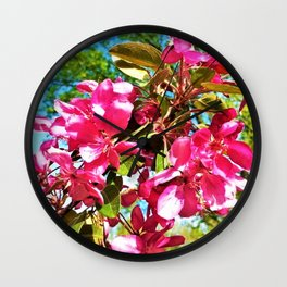 Apple Blossom Wall Clock