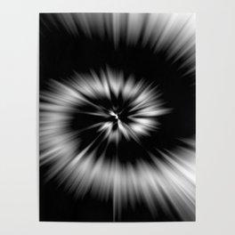 TIE DYE #1 (Black & White) Poster