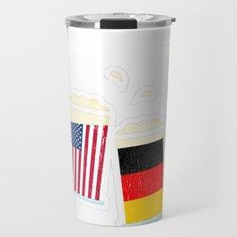 American German Beer Stein Prost Oktoberfest  Print  Travel Mug