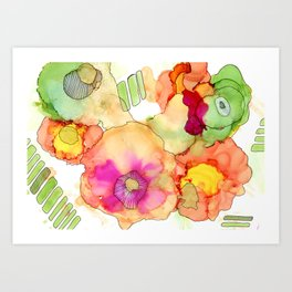 Neon Petunia Art Print