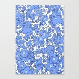 Technology! - Blue Canvas Print