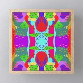 Fancy patterns Framed Mini Art Print