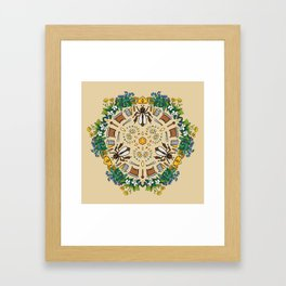 Beekeeping Mandala Framed Art Print