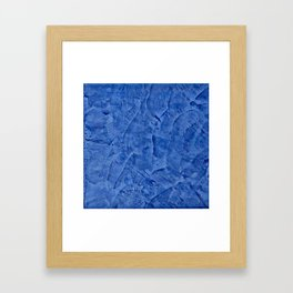 Beautiful Vibrant Light Blue Plaster #society6 #bluedecor #blue Framed Art Print
