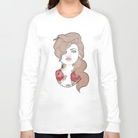 tattoos Long Sleeve T-shirts featuring Tattoos by Lilyana Reyes