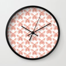 Butterfly Pattern Wall Clock